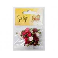 Satijnen roosjes rozetinten