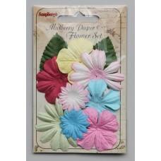 Papieren bloemen Pastel