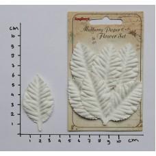 Papieren bladeren Rose white
