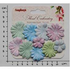 Papieren bloemen Floral Embroidery