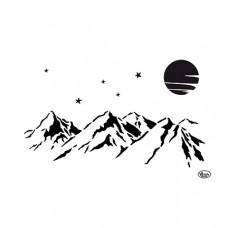 Mask stencil Mountains