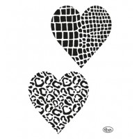 Mask stencil Hearts animalprint
