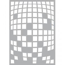 Mask stencil Square Explosion