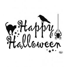Mask stencil Happy Halloween