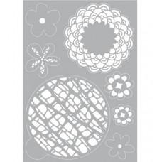 Mask stencil Flower