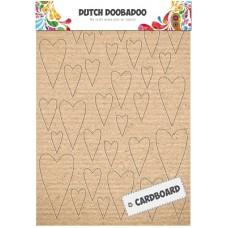 Cardboard Art Hearts