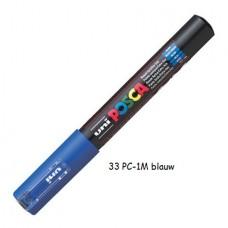 Uni Posca marker donkerblauw