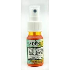 Mixed media shimmer spray oranje