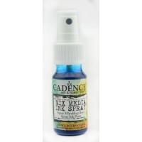 Mixed media shimmer spray blauw