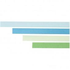 Filigraan papierstroken blauw-groen