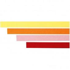 Filigraan papierstroken geel-rood