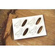 Chipboard cijfer 40