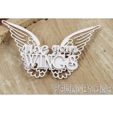 Chipboard Tekst Use your Wings