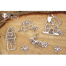 Chipboard Fairy - paddestoelenhuisjes