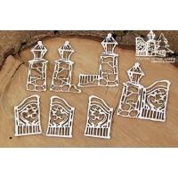 Chipboard Winter gates - grote hekken