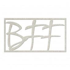 Chipboard tekst BFF