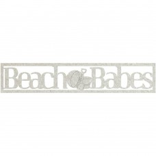 Chipboard tekst Beach Babes