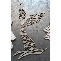 Chipboard Mermaid tail