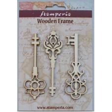 Houten ornament Big keys