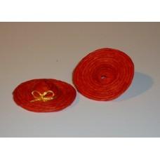 Strooien hoedje rood