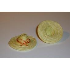 Strooien hoedje geel