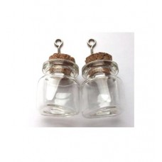 Glazen flesjes 22 x 25 mm brede hals