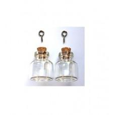 Glazen flesjes 22 x 25 mm