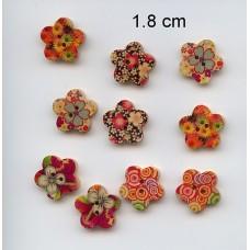 Houten bloemenknopen