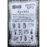 Creative Dyary Dy-Cuts - Black and white animals