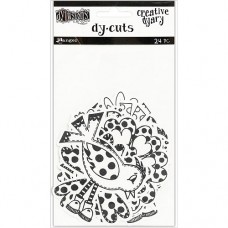 Creative Dyary Dy-Cuts - Black and white birds and flowers