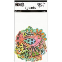 Creative Dyary Dy-cuts -  Colored birds and flowers