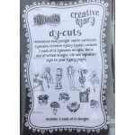 Creative Dyary Dy-Cuts - Black and white Set 7