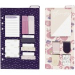 Sticky notes en bladwijzer set paars