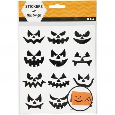 Fancy stickers Halloween gezichten