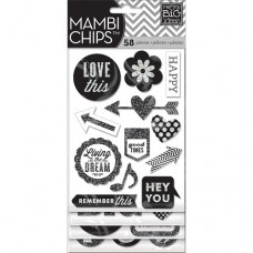 Chipboard stickers - Hey you