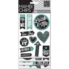 Chipboard stickers - Look at me