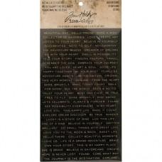 Metallic stickers - Quotations