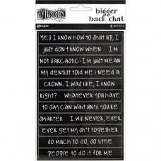 Bigger back chat stickers - black