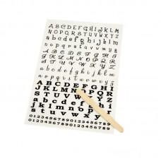 Rub on Alphabet
