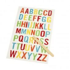 Rub on Alphabet retro