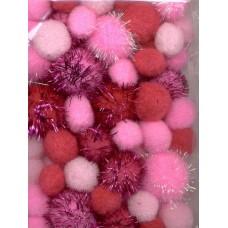 PomPoms roze glitter