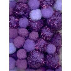 PomPoms paars glitter