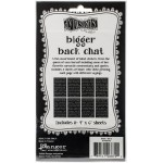 Bigger back chat stickers set 2 - black
