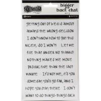 Bigger back chat stickers set 2 - white