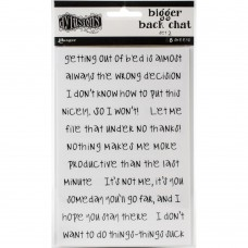 Bigger back chat stickers set 2 - white