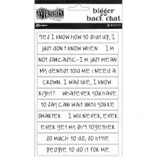 Bigger back chat stickers - white