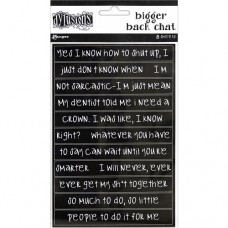 Bigger back chat stickers - black