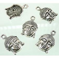 Metalen bedel boeddha