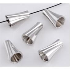 Metalen kapje bewerkt 9 x 6 mm