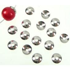 Metalen kapje rond glad 6 mm